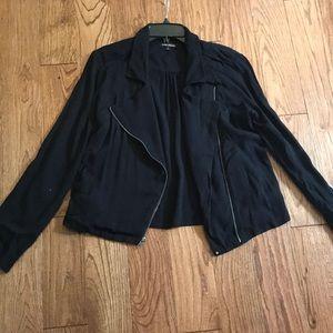 Ella moss drape front moto jacket/cardigan medium